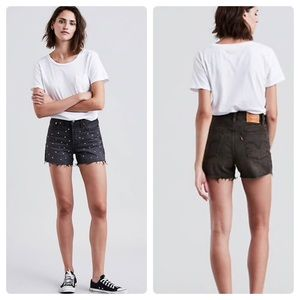 Levi's Vintage Style High Rise Wedgie Jean Shorts